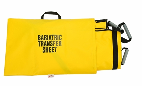 181YL-BB BARIATRIC TRANSFER SHEET THE BIG ROGER WITH BACKBOARD INSERT SLEEVE