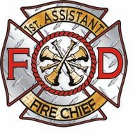 1st Assistant Fire Chief Helmet Sticker