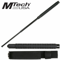 21 Inch Self Defense Baton w/ Rubberized Handles - Holster Included
