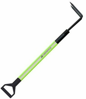 4'  HiViz Lime w/Rubbish Hook and D-Handle