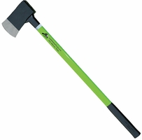 "6# Flat Axe (HiViz Lime) 36"" Handle w/Reflective Tape"