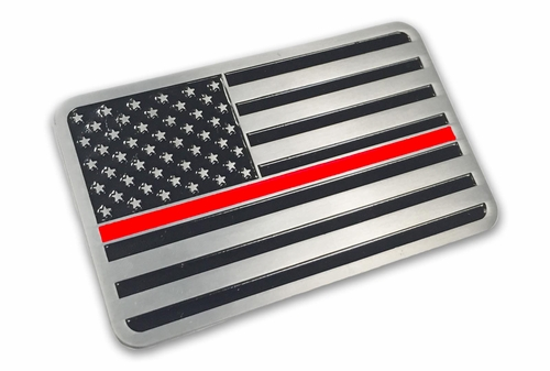 Aluminum Thin Red Line Vehicle Emblem