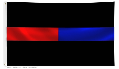 Black Thin Red Line Thin Blue Line Flag 3 X 5