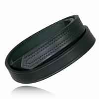Boston Leather 1 Inch Hook and Looped Tipped Belt - 6628