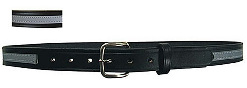Boston Leather Specialty Reflective Silver 1 1/4 Inch Belt - 6580R
