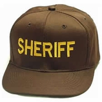 Brown Twill Sheriff Hat