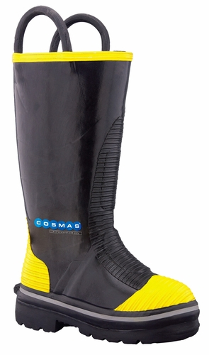 Cosmas 14 Inch Java Rubber Turnout Boot with Nomex Lining
