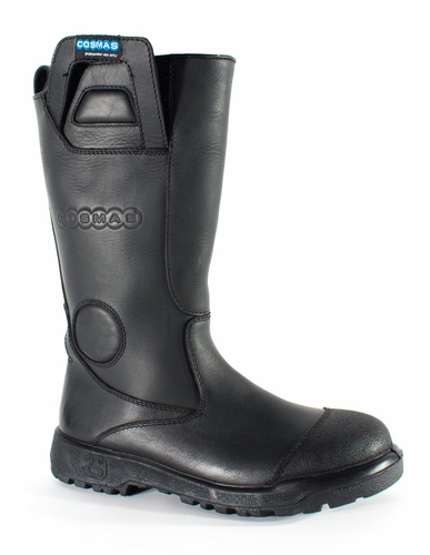Cosmas Men's Apollo 14 Inch Leather Bunker Boot With Dual Density Outsole
