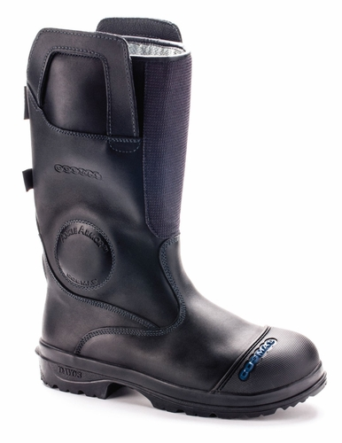 Cosmas Men's Titan 14 Inch Leather Bunker Boot, NFPA