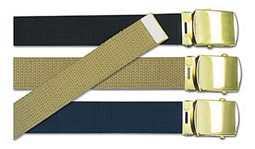 Cotton Web Belt With Buckle