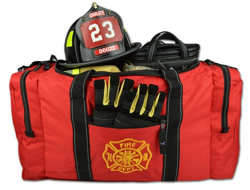 Deluxe Firefighter Turnout Gear Bag Red