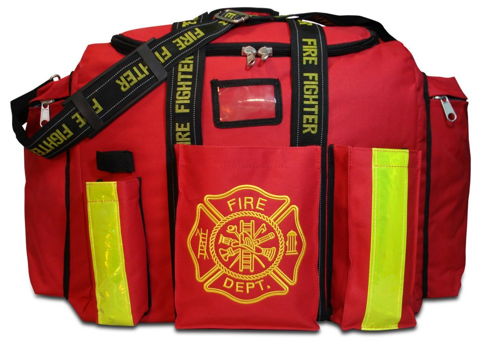 Firefighter Gear Bag Turnout Deluxe With Reflective Striping