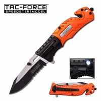 EMT Knife With Flashlight, Seatbelt Cutter & Window Punch