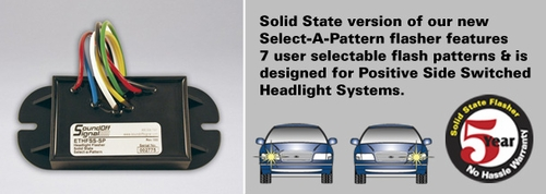 ETHFSS-SP SoundOff Signal Positive Switched Standard Headlight Flasher
