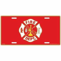 Fire Department Logo License Plate