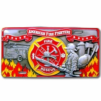 Fire Fighter 3D License Plate