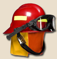 First Due Firefighter Helmet - NFPA With Goggles