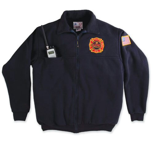 Game-8075 Firefighters Full-Zip Job Shirt Navy