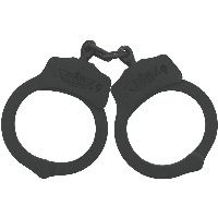 Handcuffs Black Stainless Steel NIJ Approved