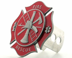 THS3S Hitch Cover Fire Fighter's Cross