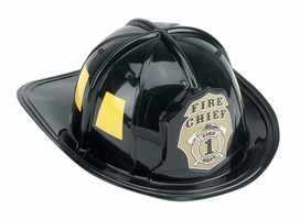 Kids Black Firefighting Helmet