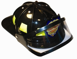 Kids Black Firefighting Helmet With Flip Down Shield
