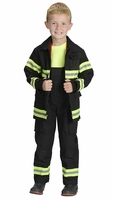 Kids Firefighter Costume COLOR BLACK Real Life Like Fabric