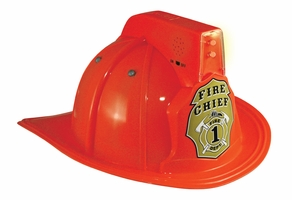 Kids Red Firefighting Helmet With Lights & Siren