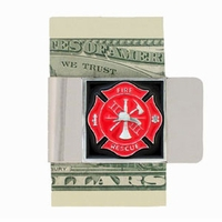 Large Fire Fighter Money Clip