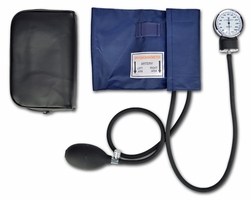 Lightning X LXBPC-B Aneroid Blood Pressure Cuff Kit - NAVY BLUE