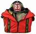 Lightning X LXFB70 Compact Boot Style Firefighter Turnout Gear Bag - RED