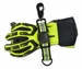 Lightning X LXFGS-ADJ Premium Heavy-Duty ADJUSTABLE Nylon Fire Glove Strap - BLACK