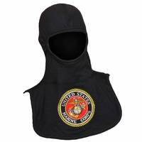 Majestic Fire 100% Nomex Black PAC II Hood W/Embroidered MARINES Emblem