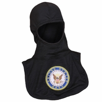 Majestic Fire 100% Nomex Black PAC II Hood W/Embroidered NAVY Emblem