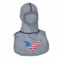 Majestic Fire American Bat Embroidered Rayon Kevlar PAC II Hood