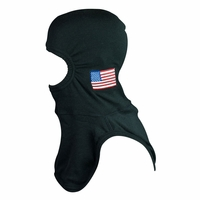 Majestic Fire American Flag on PBI Gold - BLACK PAC II Hood