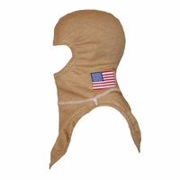 Majestic Fire American Flag on PBI Gold PAC II Hood