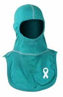 Majestic Fire Apparel Fire Hood Support Ovarian Cancer w/ Ribbon