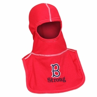 Majestic Fire Embroidered Boston Stron Red 100% Nomex PAC II Hood