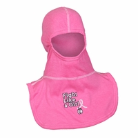 "Majestic Fire Embroidered ""Fight Like a Girl"" on Nomex Blend Pink PAC II Hood"