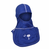 Majestic Fire Embroidered Palmetto Tree Royal Blue 100% Nomex PAC II Hood