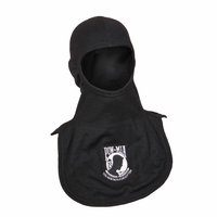 Majestic Fire Embroidered POW MIA 100% Nomex Black PAC II Hood
