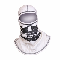 Majestic Fire - Fire Ink 100% Nomex White Hood W/Black Skull and Black Trim
