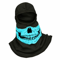 Majestic Fire - Fire Ink Glow In the Dark Blue Skull PAC F20 Hood