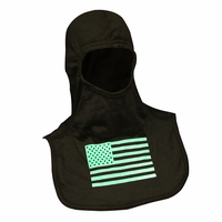 Majestic Fire - Fire Ink Glow In the Dark Green Flag PAC II Hood