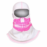 Majestic Fire - Fire Ink Pink Skull W/Pink Trim White PAC F20 Hood