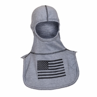 Majestic Fire - Fire Ink Rayon Kevlar Grey W/Black Flag PAC II Hood