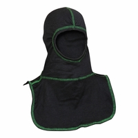 Majestic Fire Kelly Green High Visibility Stitching Black PAC II Hood - C6