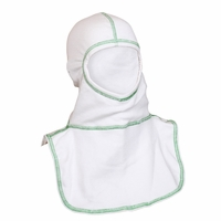 Majestic Fire Kelly Green High Visibility Stitching White PAC II Hood - 100% NOMEX