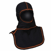 Majestic Fire Orange High Visibility Stitching Black PAC II Hood - C6